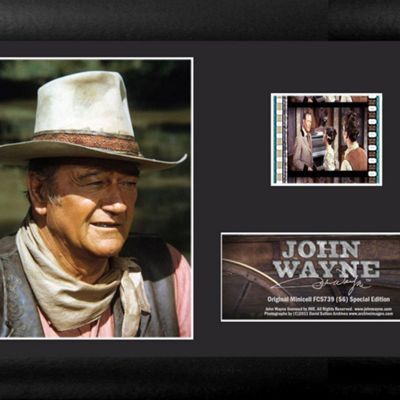 John Wayne American Icon Framed Film Cell