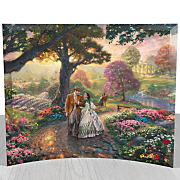 Thomas Kinkade Gone with The Wind Curved Glass Print