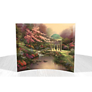Thomas Kinkade Pools of Serenity Curved Glass Print