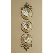 Set of 3 Capiz Wall Mirrors