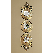 set of 3 capiz wall mirrors