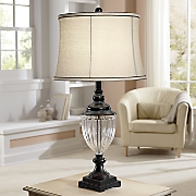Traditional Glass Base Lamp
