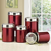 5-Piece Stainless Steel Canister Set