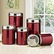 5 pc  stainless steel canister set