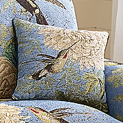 hummingbird flutter pillow