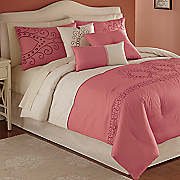 Bohemia Embroidered 7-Piece Bed Set and Window Treatments