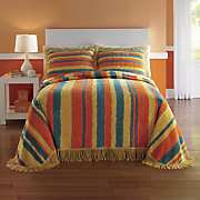 Zoey Stripe Chenille Bedspread and Sham