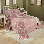 butterfly trails woven jacquard bedspread and sham