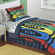 crayons complete bed set