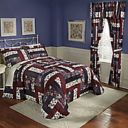 caledonia bedspread  sham and window treatments