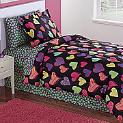 colorful hearts complete bet set and valance