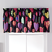 colorful hearts valance