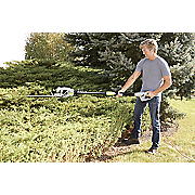 18  corded convertible pole hedge trimmer by earthwise