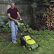 mow joe electric lawn mower by sun joe