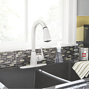 pull down kitchen faucet by cleanflo