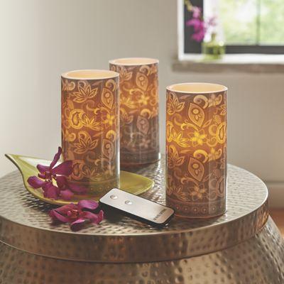 Set of 3 LED Candles