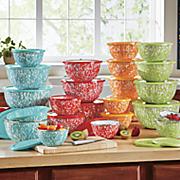 12 pc  speckled bowl set