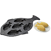 Cast Iron Fish Cornbread Pan
