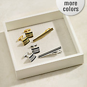 striped cufflinks and tie tack set by steve harvey