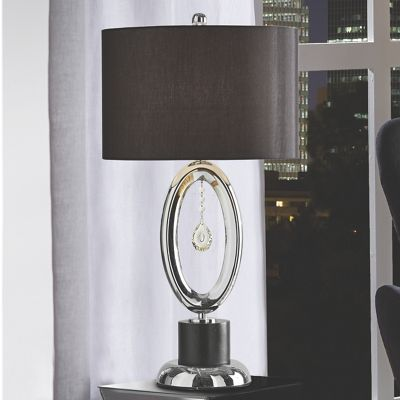 Cutout Table Lamp with Crystals