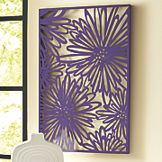 Purple Floral Silhouette Wall Art