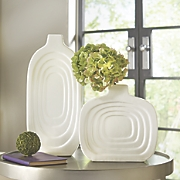 indented ceramic vases