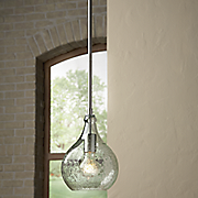 rhone blown glass mini pendant light