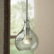 rhone blown glass mini pendant light