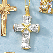 men s cross diamond pendant