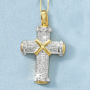 men s cross diamond pendant