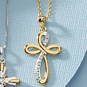 diamond cross pendant 70
