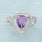 open teardrop amethyst ring by rebecca sloane