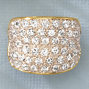 white topaz two tone wide band
