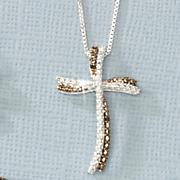 black diamond cross pendant 95