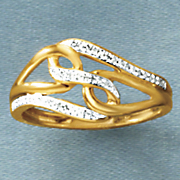 diamond swirl ring 68