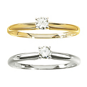 1 8 ct gold diamond solitaire ring