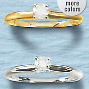 1 4 ct gold diamond solitaire ring