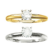 1 2 ct gold diamond solitaire ring