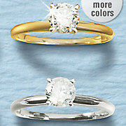 3 4 ct gold diamond solitaire ring