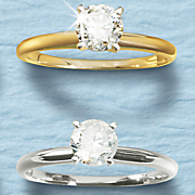 3/4 Ct Diamond Gold Solitaire Ring