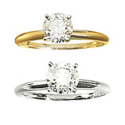 1 ct gold diamond solitaire ring