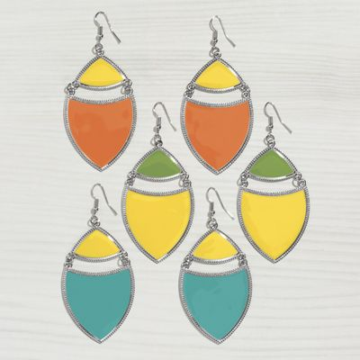 2-Color Wire Earrings