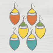 2 color wire earrings