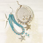 starfish necklace earring set 14