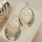geo cutout earrings