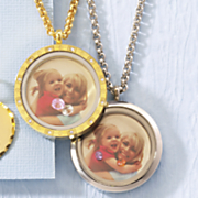 photo birthstone locket necklace