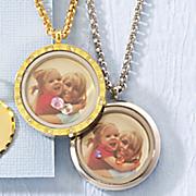 photo birthstone locket necklace