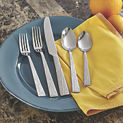 20 pc  frost geo flatware set