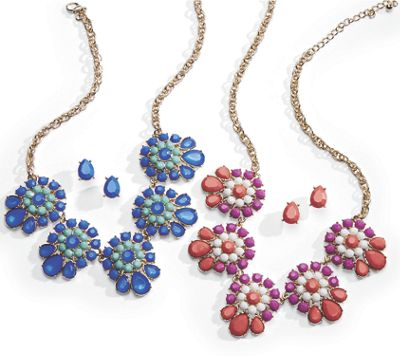 Colorful Clusters Necklace/Earrings Set