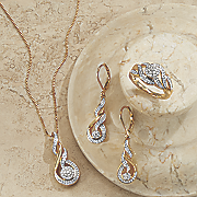 diamond necklace earring ring set